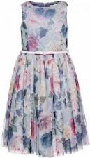 Monnalisa chic multilayer tulle dress with flower print and belt age 10 140