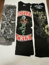 Bundle of Poison Band Swarovski shirts M L + Motley Crue Nwt Bret Michaels
