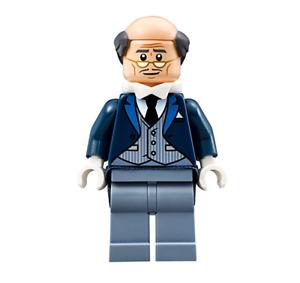 Lego Alfred Pennyworth 70909 Pinstripe Vest Batman Movie Super Heroes Minifigure