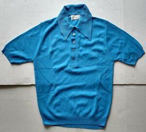 Vintage Ban-lon Baby Blue Men's Shirt 100% Phillips 66 Nylon S
