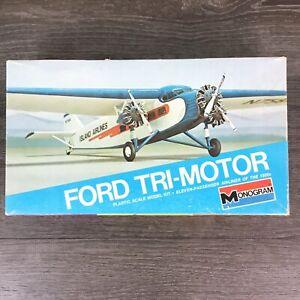 Monogram Ford Tri-Motor 1:72 Scale Island Airliner #7592 Plastic Model Kit 1975