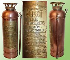 VINTAGE COPPER & BRASS FIRE EXTINGUISHER BY AMERICAN LaFRANCS FIRE ENGINE CO.