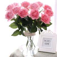 Silk RoseFlower Silk Flowers Rose Flower  Home Wedding Decor
