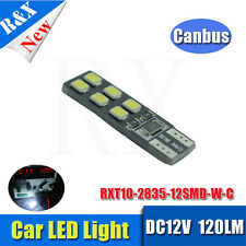 2x CANBUS ERROR FREE 12SMD LED XENON HID PURE WHITE W5W T10 501 SIDE LIGHT BULBS