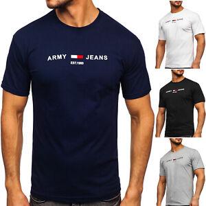 T-Shirt Tee Rundhals Classic Kurzarm Motiv Print Sport Herren Mix BOLF Aufdruck
