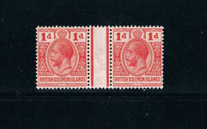 "Solomon Is - 1913 - 1d KGV ""Interpaneu Pair"" - SC 20 [SG 19] Mint - ""RARE"" 18"
