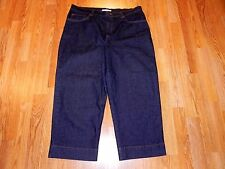 JONES SPORT STRETCH CROP BLUE JEANS WOMEN'S SIZE 14 - MINT!