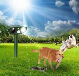 Ultrasonic Battery Cat Dog Repellent Fox Pest Scarer Deterrent Repeller Garden