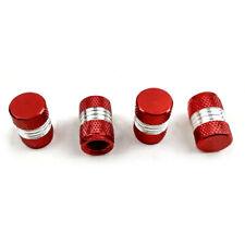 4pcs Red Anodized Aluminum Car Tire/Wheel Air Pressure Valve Stem Caps Universal