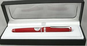Pilot Falcon Red & Chrome Fountain Pen - 14kt SM Flex Nib - New in Box - Japan