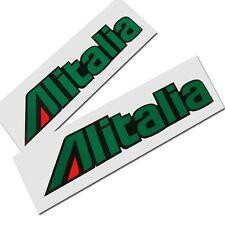 Alitalia Motorrad Aufkleber, Benutzerdefinierte Grafik Aufkleber x 2 Teile