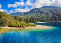 Oludeniz Turkey Poster Print Size A4 / A3 Beach Travel Nature Poster Gift #12636