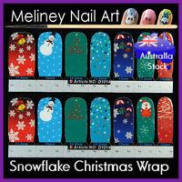 Christmas Full Cover Nail art Wraps snowflake Stickers Winter Santa tree Snowman