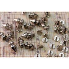 40pz Borchie in ottone killer a vite base esagonale misura 8*14mm colore argento