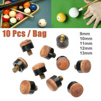 10 x Screw On Cue Tips Snooker Replacement Billiard Pool Accessory  Size 9-13mm