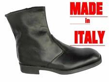 STIVALI UOMO stivaletti SCARPE CLASSICHE vitello , - 50%  MADE IN ITALY 40 a 45