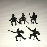 Vintage 1963 CASTLE ATTACK PLAYSET 5 Black KNIGHTS Soldiers Multiple Products