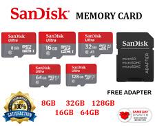 SanDisk Ultra 8GB 16GB 32GB 64GB 128GB Memory Card + Free Adapter Micro SD SDXC
