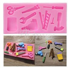 Silicone Tools Mold Cake Fondant Topper Hammer Spanner Baking Mould Decorating E