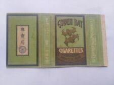 1930s Japan Empty cigarette hard mini pack -70 mm-Golden bat-7 sen-10 cigarettes