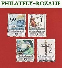 CZECHOSLOVAKIA SET STAMPS MNH ** 1989 Mi 3013/3016 ART - BIB