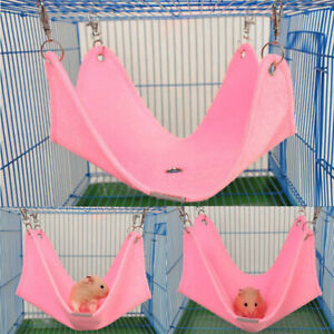 Winter Warm Swing Hammock Hanging Bed Cage Accessories For Pet Hamster Squirrel