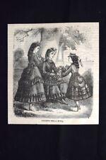 Figurino della moda Incisione del 1870