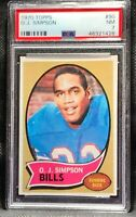 1970 Topps Football O.J. Simpson ROOKIE RC #90 PSA 7 NM   NR!