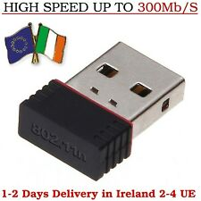 300Mb/s WiFi Dongle Adapter Wireless Network Lan Card Mini USB Windows Pc Laptop