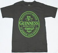 Guinness Men's Extra Stout Beer Irish Dublin Licensed T-Shirt Gray Adult New