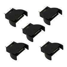 5X Portable Black CR2032/CR2025 Button Coin Cell Battery Socket Holder Box Case