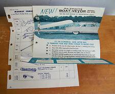 1957 BOAT-VEYOR Advertising; One Man Method of Transporting Boats