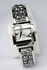 New Avon PEARLESQUE Pearl CUFF WATCH - Grey Pearls -Easy On Bangle NEEDS BATTERY