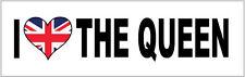 I LOVE THE QUEEN - HEART FILLED UNION JACK - VINYL STICKER - 24 cm x 7 cm