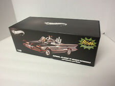 BATMAN BATMOBILE HOT WHEELS ELITE 1/18 DIECAST 1966 w/ Batman & Robin  BCJ95