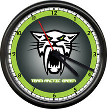 Team Arctic Cat Snowmobile Panther Winter Sports Racing Dealer Sign Wall Clock
