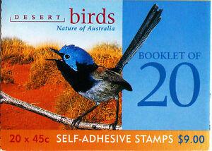 2001 Desert Birds 20 x 45c Stamp Booklet (SB146) - General Barcode