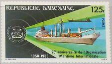 Rapatrié Gabon 1983 859 530 25th Ann Intl. maritime org. container ship navire MNH