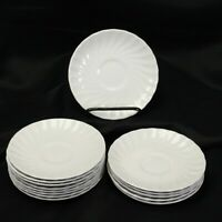 "Johnson Bros England White Swirl Saucers 5.625"" Lot of 14"