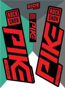 RockShox Pike Ultimate 2019 Stealth Red Replica Decals
