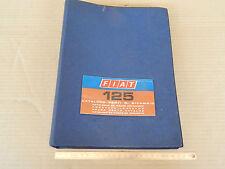 CATALOGO PARTI DI RICAMBIO ORIGINALE 1972 FIAT 125