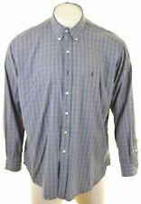 POLO RALPH LAUREN Mens Shirt XL Multicoloured Check Cotton Loose Fit Blake LN18