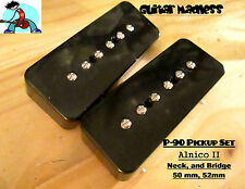 G.M. P-90 Soap bar Pickup Set Black Alnico 2 for Gibson Epiphone®