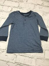 Boy's H&M T-Shirt Navy Striped Long Sleeve Age 2-4 Years