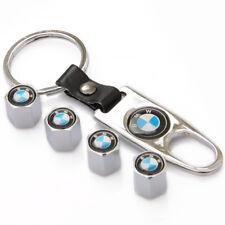 Silver Car Wheel Tire Valve Dust Stems Air Caps Cover Emblem Keychain for BMW