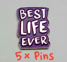 JW.org Pin For Jehovah's Witnesses JW gift Purple Best Life Ever Lot Of 5 Pins