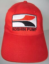 KOSHIN PUMP WATER OIL PUMPS CONSTRUCTION MARINE GARDEN RED ADVERTISING HAT CAP