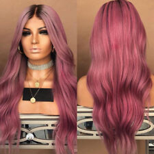Women Best Synthetic Ombre Hair Lace Front Wig Long Wavy Curly Full Wigs