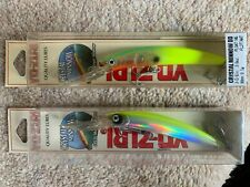 "2x Yo-Zuri Crystal Minnow (F) 90mm 3-1/2"" Floating Deep Diver Lure new in box"