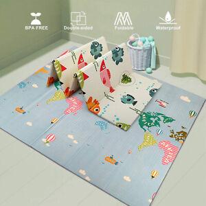 Baby Spielteppich Kinder Spielmatte Beidseitige Krabbelmatte Krabbeldecke Matte